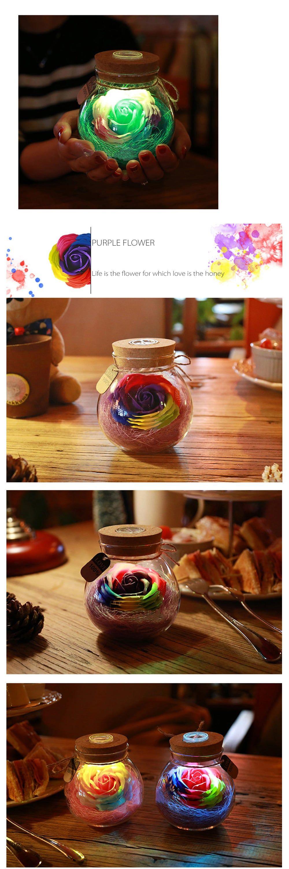 Rose Light Bottle Romantic Illumination