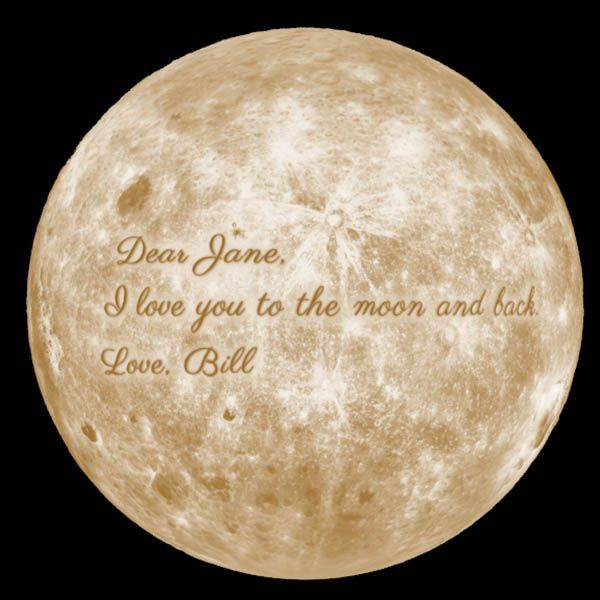 product thumbnail image for Personalized Moon Lamp