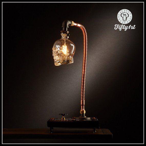 "Industrial Skull Table Lamp ""Max II"""