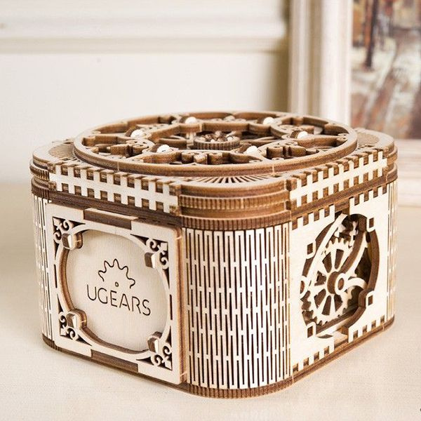 product image for UGEARS Mechanical Treasure Box
