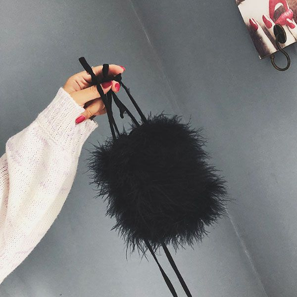 product image for Fuzzy Faux Fur Bag
