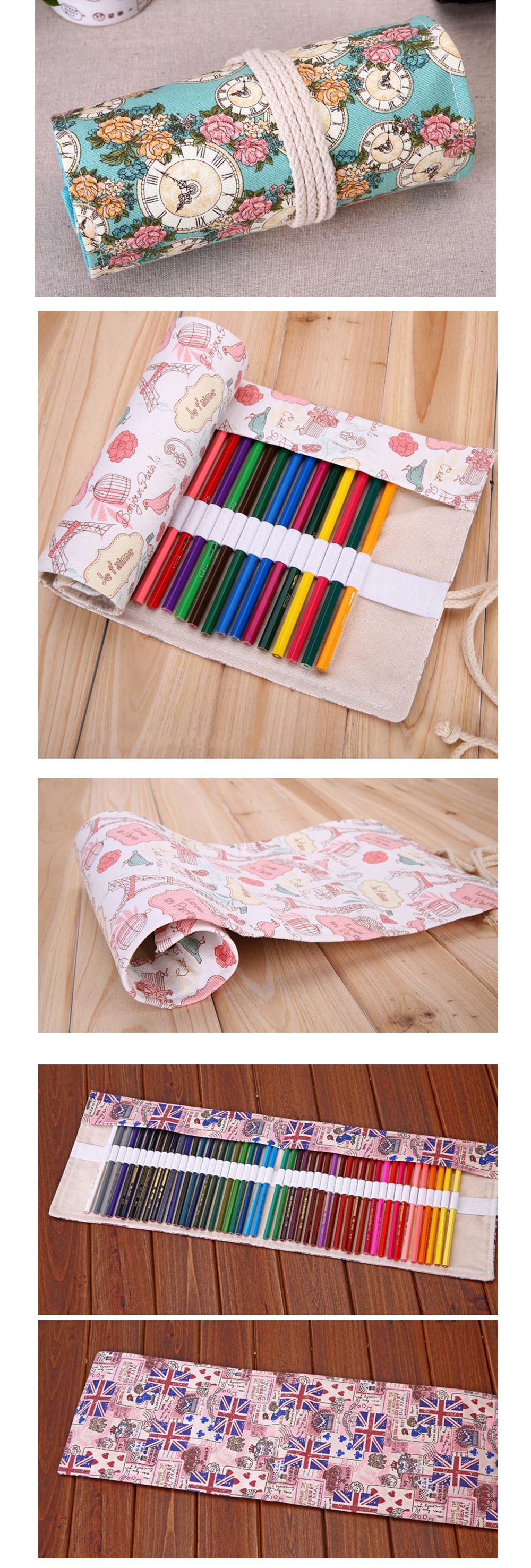 Canvas Pencil Wrapper Keep Pens Organized