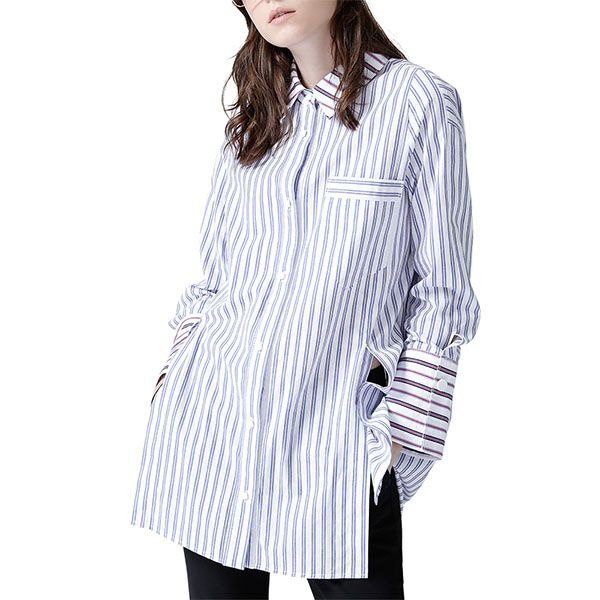 Women's Striped Long Sleeve Shirt