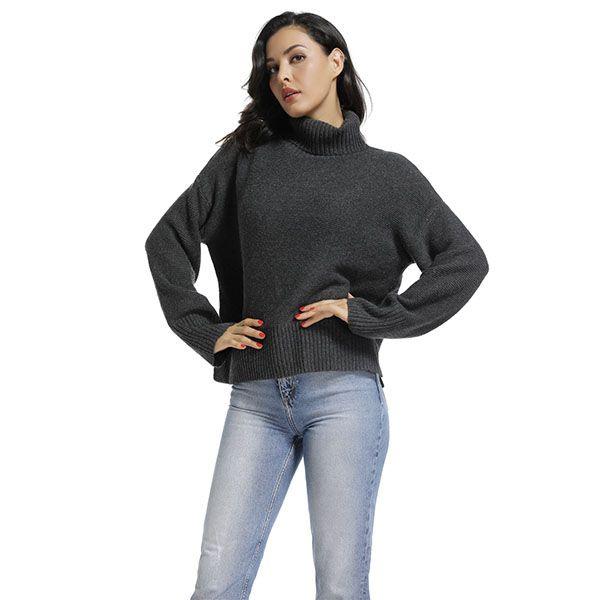 Long Sleeve Turtleneck Pullover