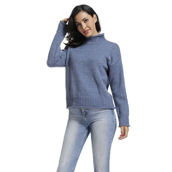 Curl Edge Knit Sweater