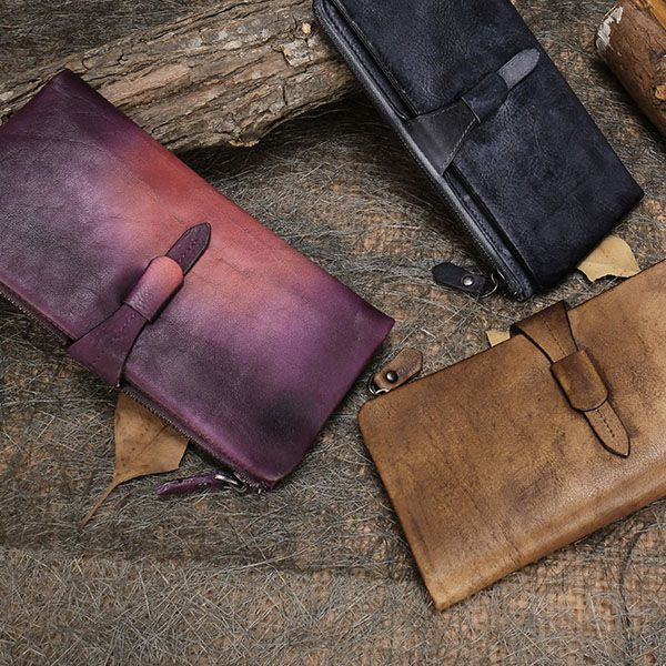 Fold Over Leather Wallet