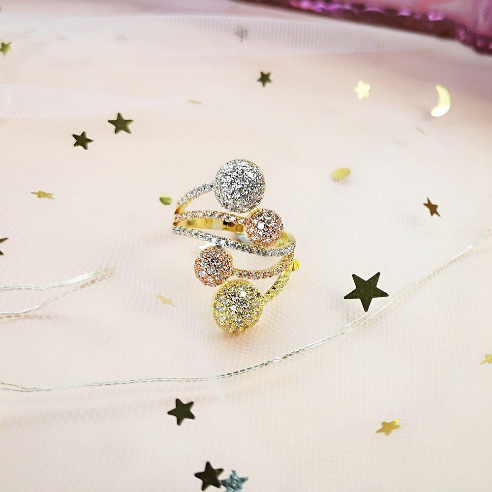 MosDream Dandelion Puffs Ring