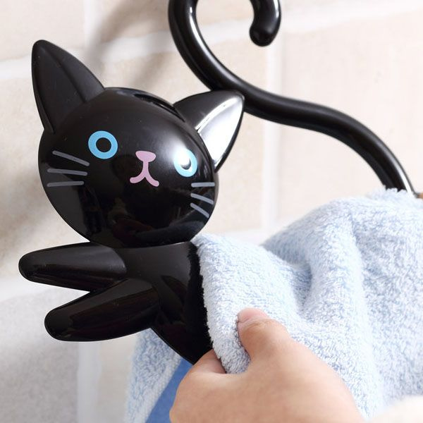 Cute Clever Cat Towel Ring