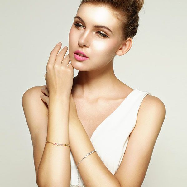 product image for Bezel Set Crystal Bracelet
