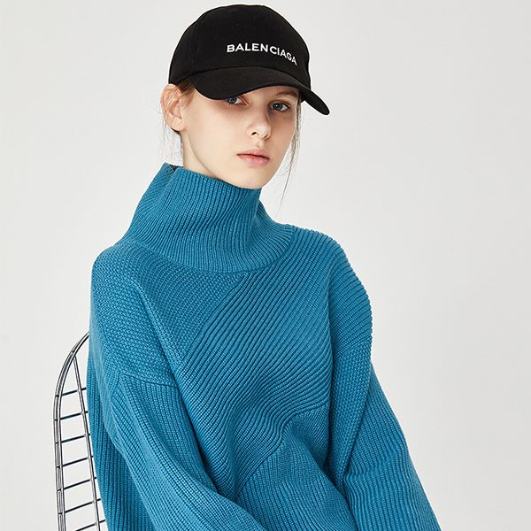 Loose Fit Funnel Neck Sweater
