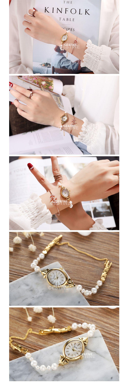 Natural Pearl Quartz Watch Classic Design