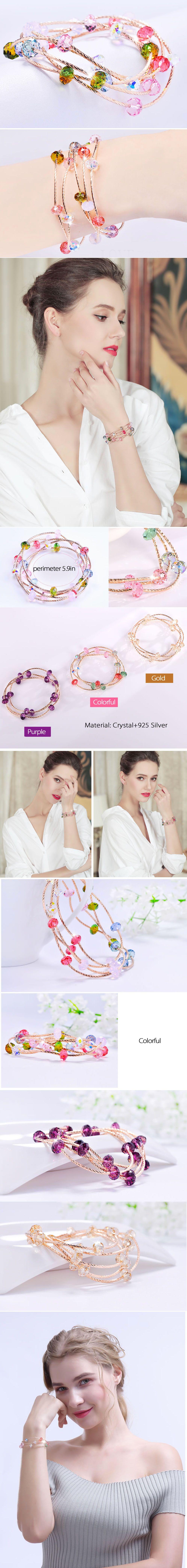 Beads Stack Bracelet Crystal Charm